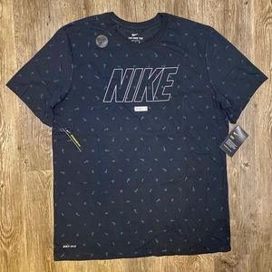 Nike Logo Tee w/ tiny logos DRI FIT Men's L & XL